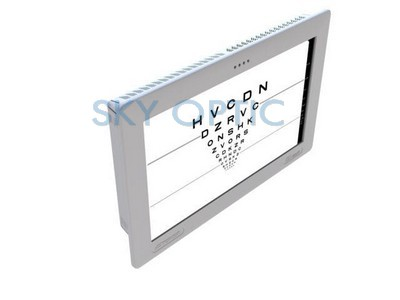 Ophthalmic test chart monitor / optotype / remote-controlled